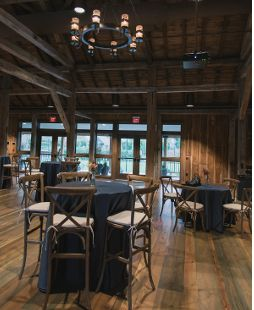 Interior of The Wells Barn, the Conservatory's newest venue! Perfect for rustic weddings and receptions, but flexible for any style. Franklin Park Conservatory and Botanical Gardens, Columbus, OH