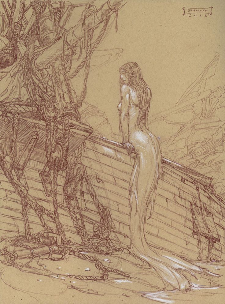 Donato Giancola - Mermaid - Shipwreck