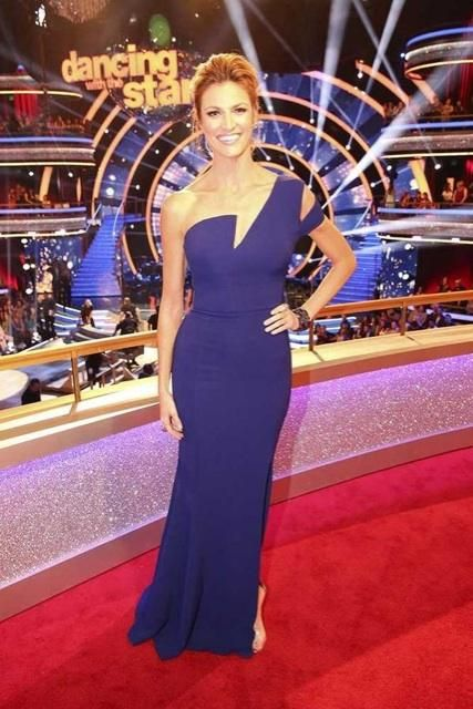"""Erin Andrews looking royal and regal with #DavidYurman pieces in amethyst, as seen on September 22, 2014, in """"Dancing with the Stars."""""""