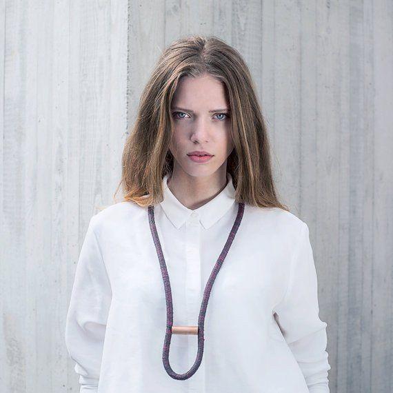 Statement Ketten - BRUGGE | Baumwolle Statement Seilhalskette - ein Designerstück von annarosamos bei DaWanda