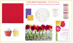 Check out My Little Flower Shop's work- featured in this guest blog post by Dana on http://pinkletandc.blogspot.com  Love her Kate Spade inspired party look!