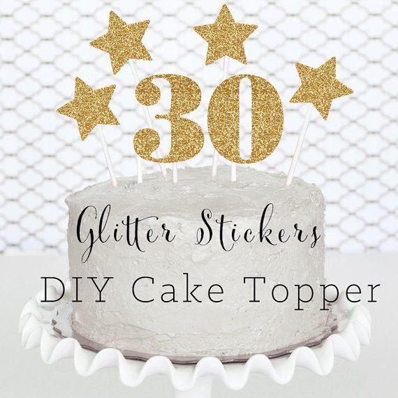 30th Birthday Cake Topper DIY 30 Birthday Decorations By ModParty