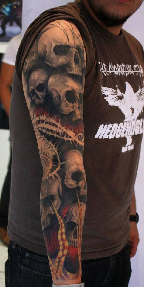 Head Tattoo Sleeve: 1000+ Images About Dragons And Skulls We Like On Pinterest