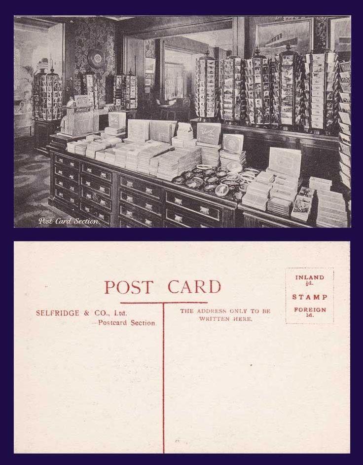 Selfridges Postcard section