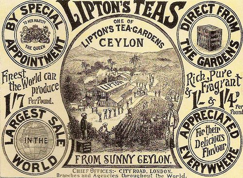 LIPTONS TEAS ADVERTISEMENT 1900 | Grocer Thomas Lipton recei… | Flickr