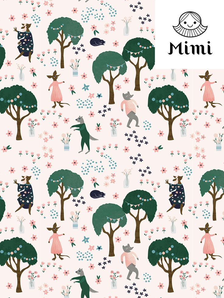 Garden Party Pattern by Mimi Paper