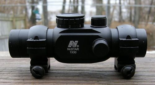 NCSTAR 1X30MM RED DOT SIGHT T-STYLE .223/5.56 TACTICAL SCOPE TUBE REFLEX OPTIC #NcSTAR