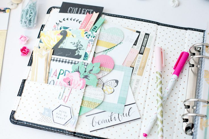 Planner set up by Andrea Bethke using Crate Paper Bloom