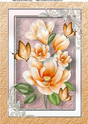Beautiful Orange Flowers A4 on Craftsuprint - Add To Basket!
