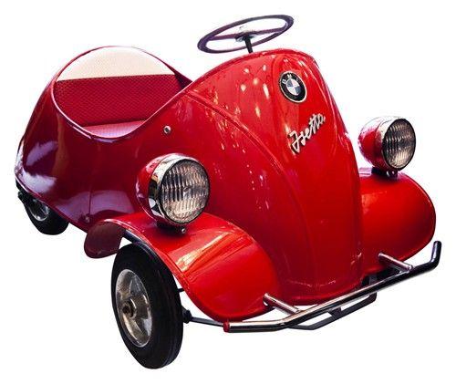 vintage bmw isetta pedal car