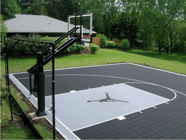 Need Basketball Court   Backyard court, Basketball court ...