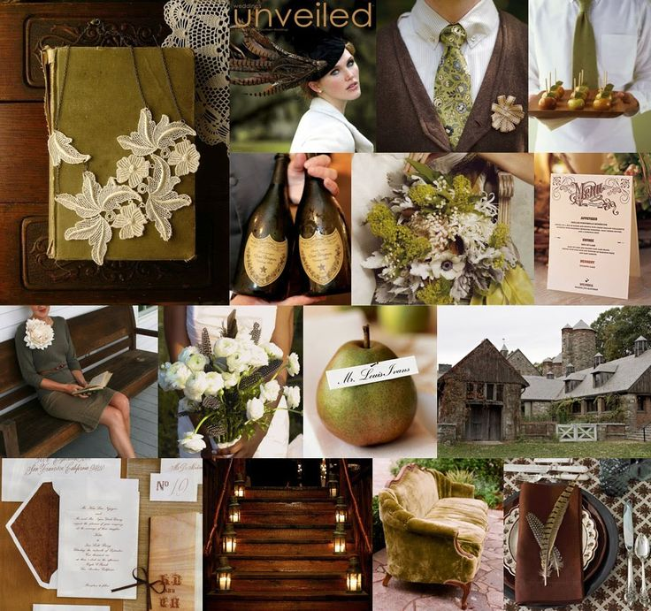 Autumn Olive Green Wedding From Snippet Ink
