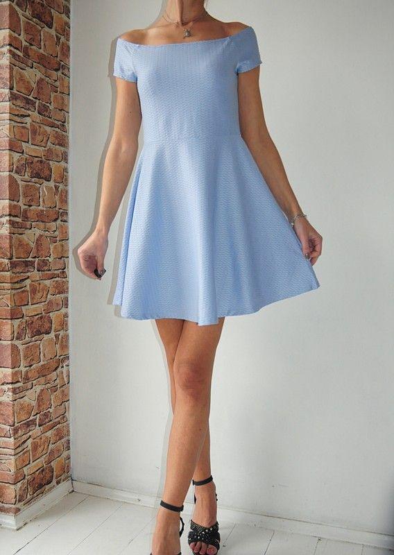 6cbcc9b9b0f103 New Look sukienka niebieska hiszpanka 40 - vinted.pl | dress ...