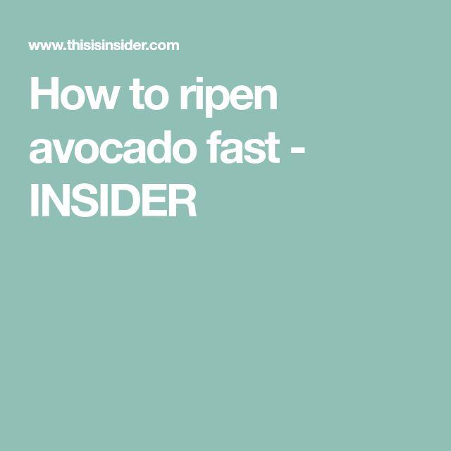 How to ripen avocado fast - INSIDER
