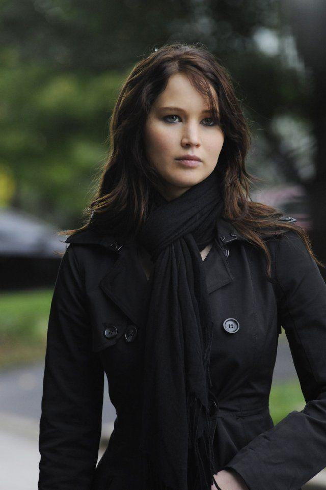 Jennifer Lawrence's dark hair... LOVE!