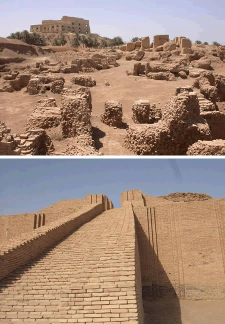 "Babylon (Iraq)  90 kilometres south of modern Bagdhad lies the ruins of ancient Babylon, the original name of which, ""bab-ili"", may be translated as ""the Gate of the Gods"". For the world at large, Babylon ranks as one of the most famous cities of antiquity, reknowned alike for its refinement, beauty and magnificence. In classical times, the city walls of Babylon were spoken of with admiration and astonishment, while her ""Hanging Gardens"" were accounted one of the Seven Wonders of the World."