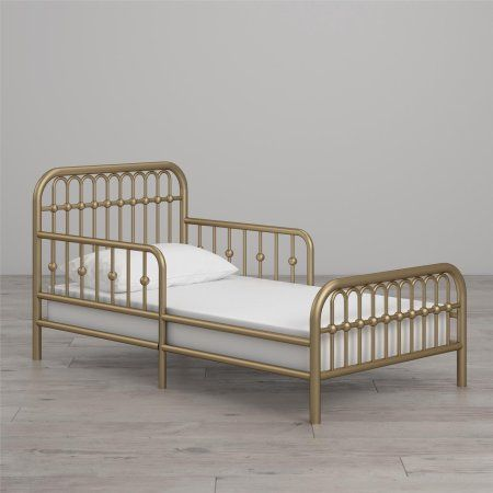 Little Seeds Piper Metal Toddler Bed, Gold