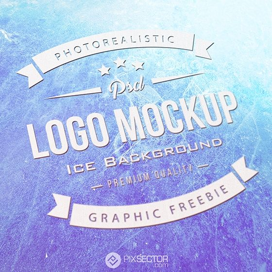 Free realistic logo mockup ice background. 1000+ awesome free vector images, psd templates, icons, photos, mock-ups and more!