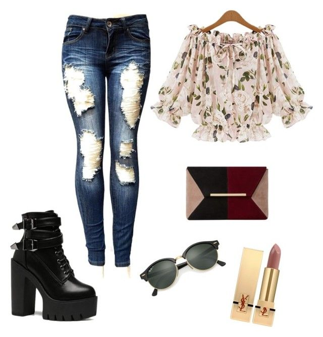 """""""casual"""" by maffaldacunha on Polyvore featuring Dune, Ray-Ban and Yves Saint Laurent"""