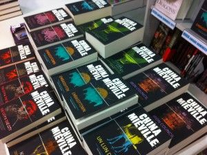China's backlist - photo taken at China Mieville's Forbidden Planet signing for RAILSEA