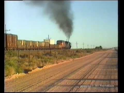 South African Railways 25NC 3515 nears Potfontein 1985