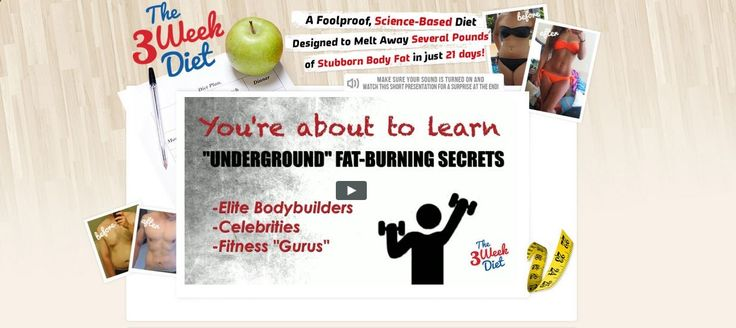 3 Week Diet Scams 3 Week Diet Scams Questions  Answers:We summarized hundreds of user comments about the 3Week Diet into this helpful FAQ.What are the side effects? Some of the potential side effects include dehydration, muscle cramps, upset stomach, nausea and vomiting, as claimed by some...