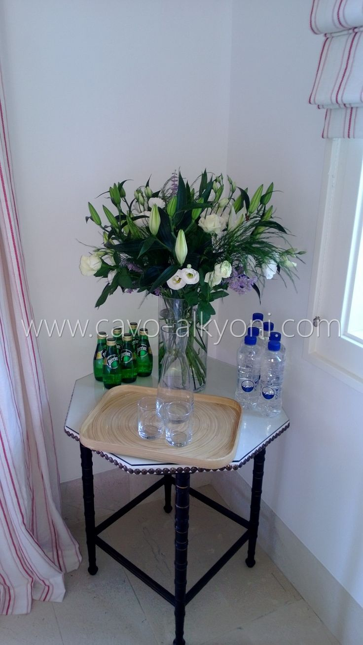 Complimentary flowers provided for clients