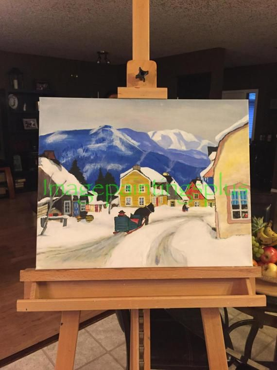 My rendition of Village in the Laurentians