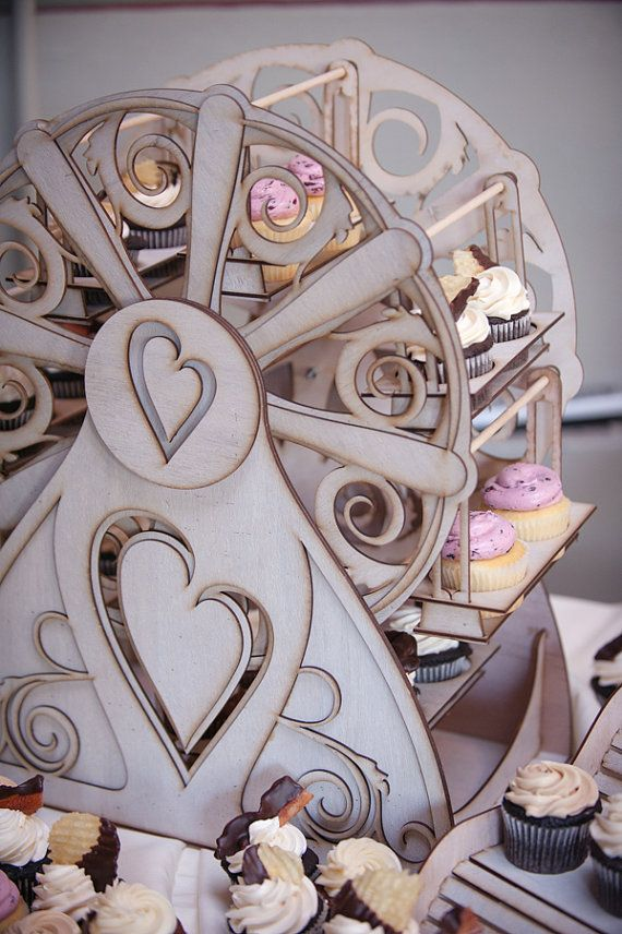 FOOD and DECORATIONS: Cupcake Holder  Ferris Wheel holds 16 cupcakes by CleverlyBuilt, $289.00. I NEED this. I need this I need this I need hstis  in eed this tineed this