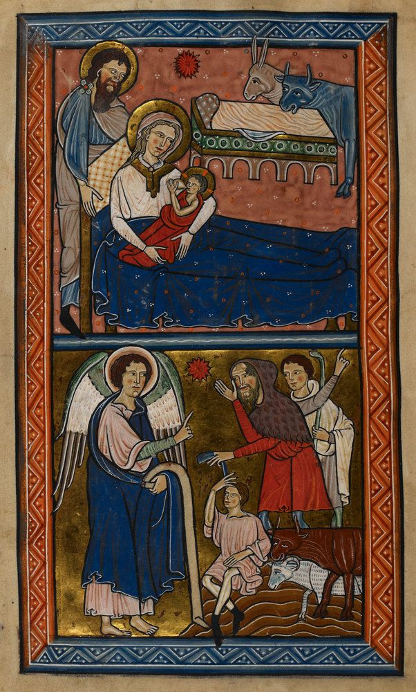 The Nativity and the Annunciation to the Shepherds by Anonymous - British Library Prints
