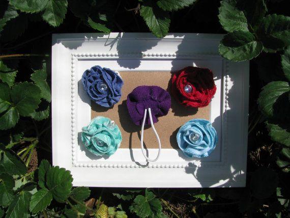 Fabric Flower ponytail hoder Ponytail Holder  Swarovski by Chrisin, €3.90