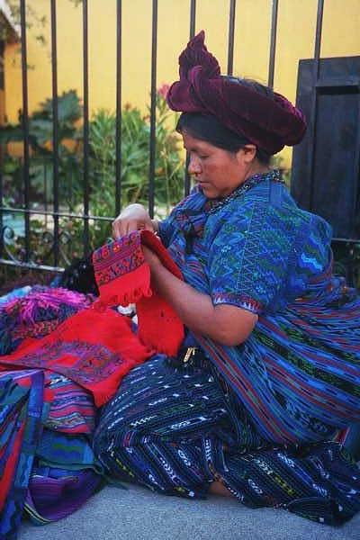 Hand embroidery in Lake Atitlan, #Guatemala