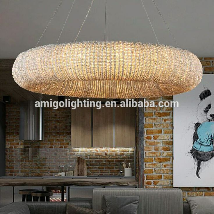 2017 new arrival big round modern led crystal chandeliers