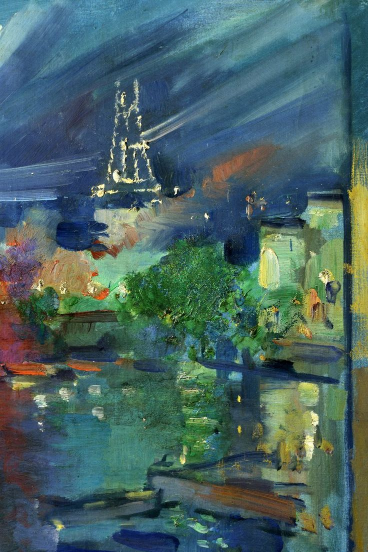 Konstantin Korovin - The Eiffel Tower at Night, 1924, oil on canvas, 81 x 60 cm