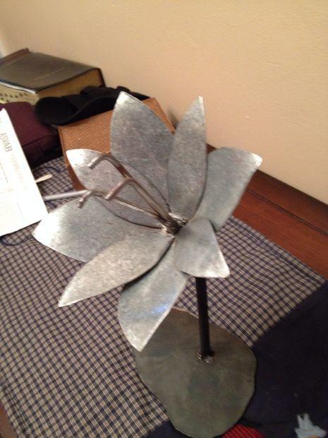 Sheet metal flower