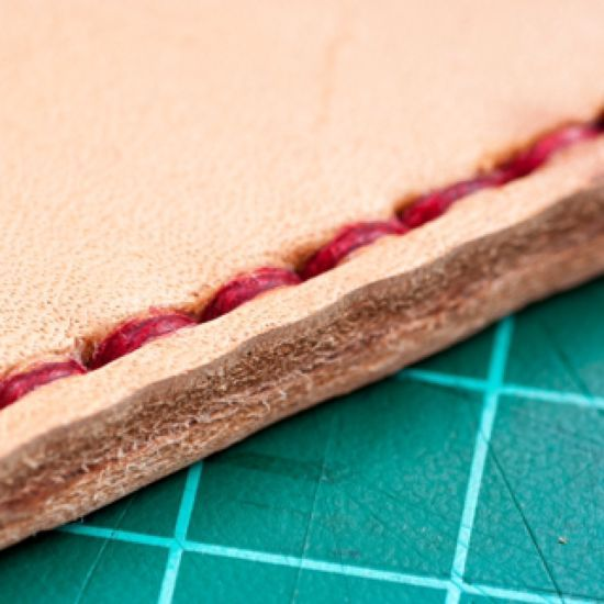 How to hand sew thick leather via @Guidecentral - Visit www.guidecentr.al for more #DIY #tutorials