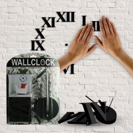 Reloj de pared adhesivo | relojes decorativos de pared. Crea tu mismo el reloj que quieras usando el set de adhesivos que te proporciona el pack de relojes modernos de pared temáticos.Con estos relojes de pared decorativos tu estancia será renovada cuando quieras.