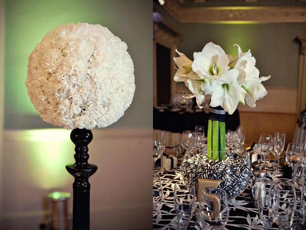Black and white centerpieces ideas