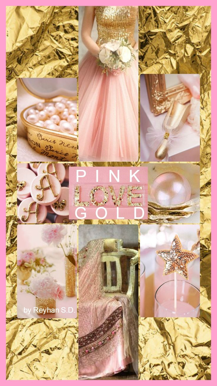 '' Pink & Gold Love '' by Reyhan S.D.