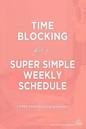 Free Weekly Schedule Template and Time Blocking Tips Productivity - weekly schedule template