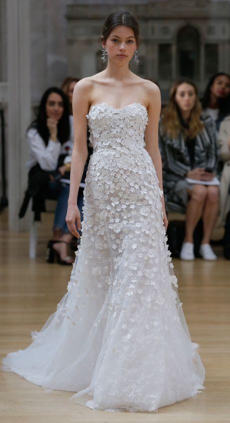 Featured Dress: Oscar de la Renta; Wedding dress idea.