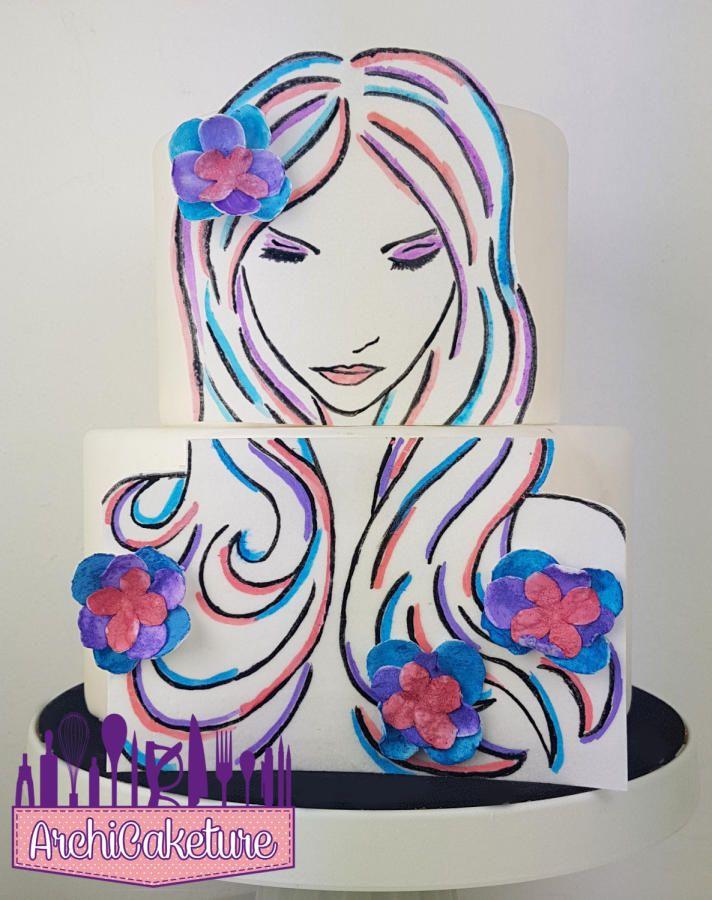 Wafer Paper Cake - Cake by Archicaketure_Italia