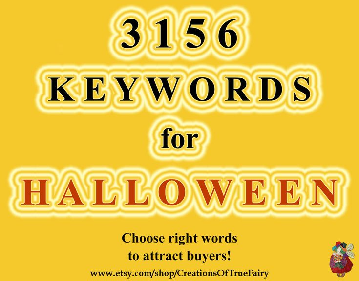 3156 Halloween-Stichwörter Haupt- und Long Tail-Stichwörter für Titel-Tags …
