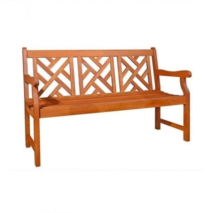 Outdoors Garden Bench Armrests Wood Patio Furniture Porch Seat Weather Resistant #OutdoorsGardenBench