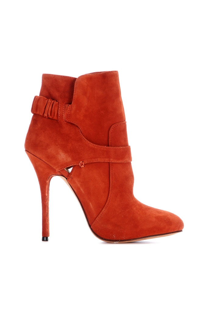 fall 2012, Jean-Michel Cazabat, shoes, boots + booties, orange