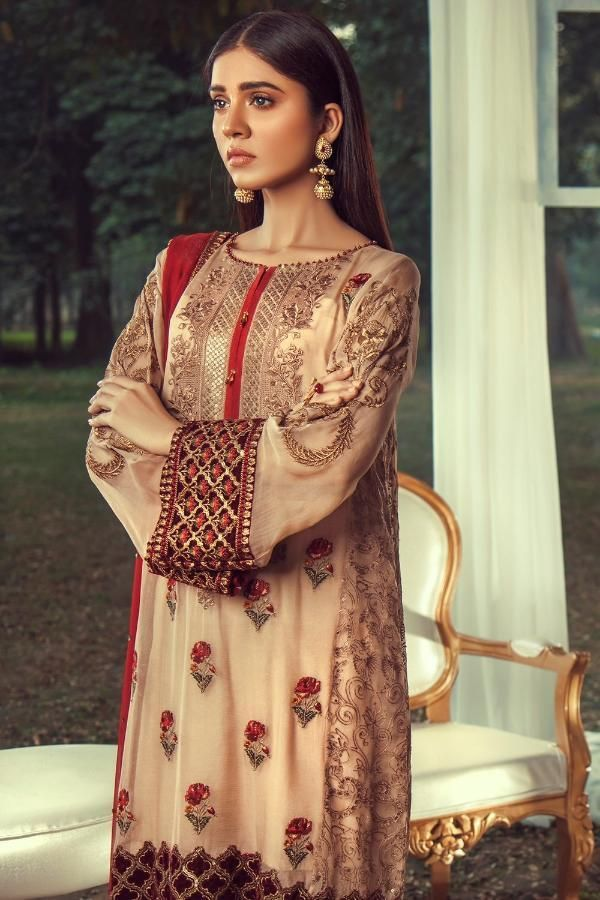 84c1690600 Sheer Ultimate Luxury Chiffon Collection – 05-EMPRESS in 2019 | Designer  Pakistani Suits & Tunics | Chiffon, Pakistani suits, Suits