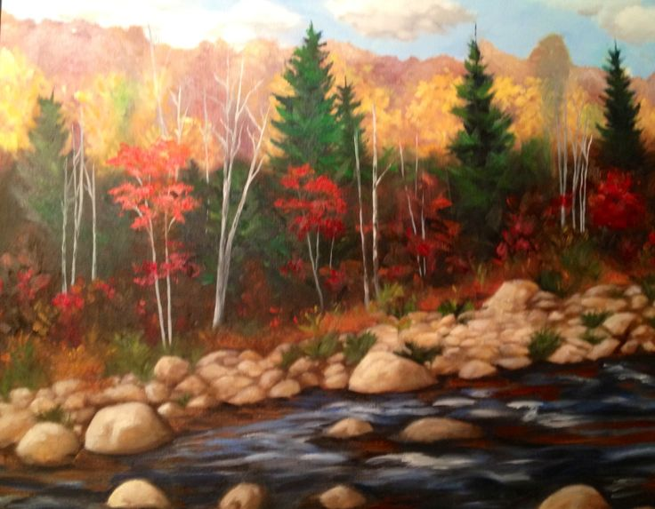Waters Edge.  Original oil painting. Maryrosenakamurafineart@gmail.com