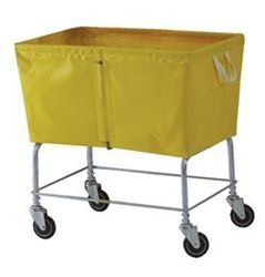 Wheeled laundry basket for under laundry chute