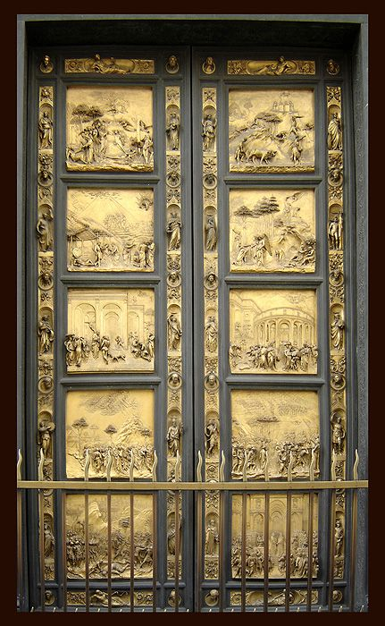 Florence Baptistery, Gates of Paradise by Ghiberti at Duomo- Someday Chip Tom and I will see this. Amazing story behind these doors creation!!!!!  Love Art History. It's World History