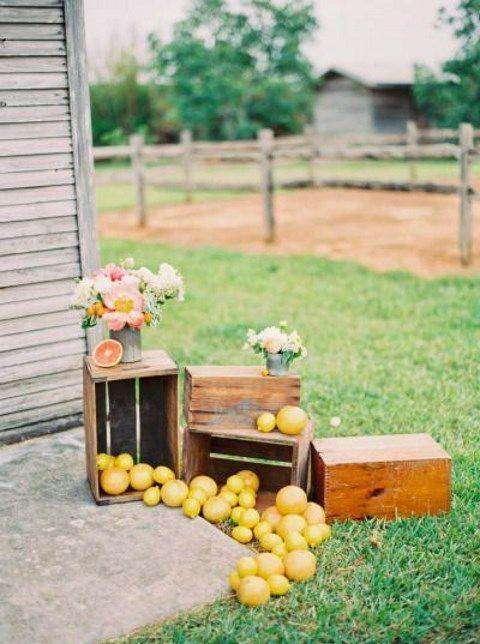 Nos inspiramos en la fruta para decorar la #boda.